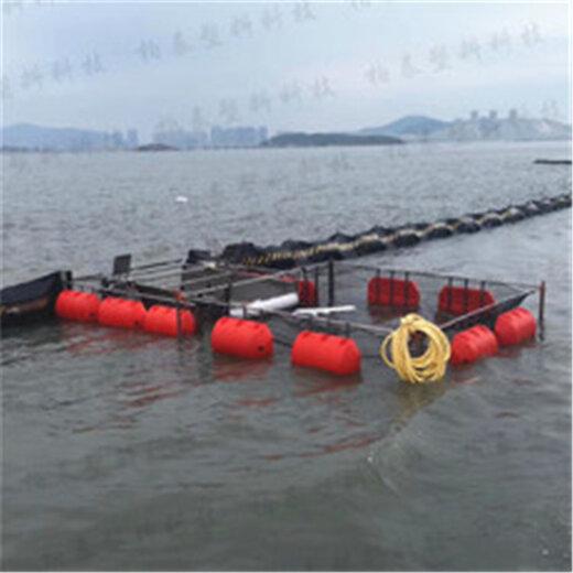 水電站攔魚管道浮筒內徑60毫米夾網攔魚的管道浮排