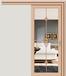 鋁合金吊趟門簡約鋼化玻璃廚房吊軌門鋁合金單吊趟門