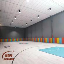寶雞籃球館墻面防撞軟包體育館吸音軟包墻板廠家定制圖片