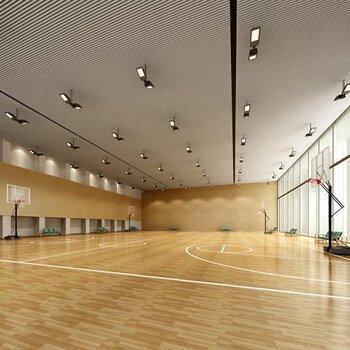 運動木地板籃球館體育館羽毛球館學校瑜伽館健身房地板生產