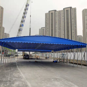 推拉移動雨棚伸縮式汽車家用停車棚戶外遮陽棚大排檔收縮活動帳篷