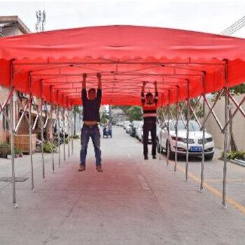 定制推拉雨棚燒烤宵夜停車位移動活動大排檔雨篷大型倉庫伸縮帳篷