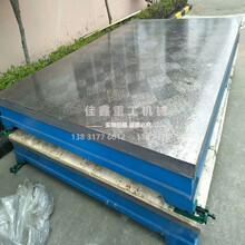 筋板式鑄鐵平臺箱體式鑄鐵平板焊接平板測量平臺佳鑫定制圖片