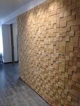 木風寨橡膠木實木馬賽克背景墻簡約大氣凹凸簡單MFZ-c100圖片