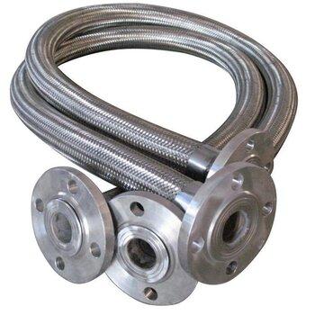 河北金属软管定做-不锈钢法兰式金属软管-消防喷淋金属软管