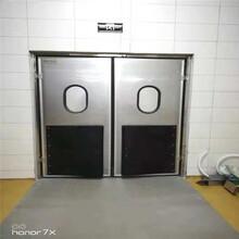 車間防撞門不銹鋼防撞門供應緩沖間門圖片