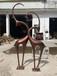 園林景觀鹿雕塑小品不銹鋼鹿雕塑抽象鹿雕塑定做