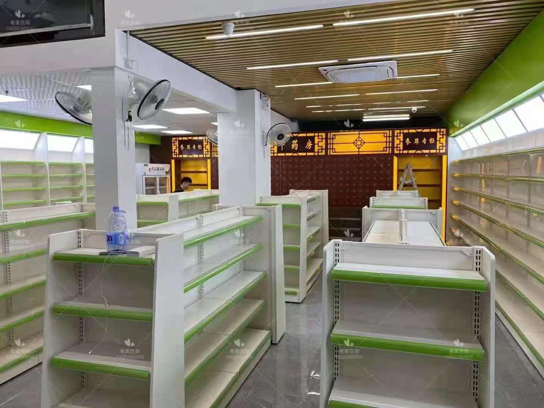 惠州瑞仁药店中药柜货架参茸柜操作台