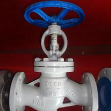 鑄鐵襯氟截止閥直通式截止閥鑄鐵法蘭截止閥電動截止閥圖片