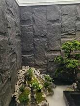 人造石廠家銷售雅黑石皮黃金麻蘑菇石雪花白流水石別墅商場裝飾圖片