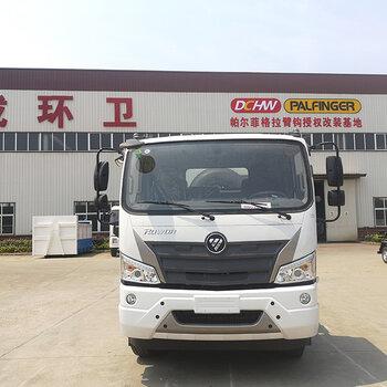 福田瑞沃3900轴距工程版勾臂垃圾车、车厢可卸式垃圾车