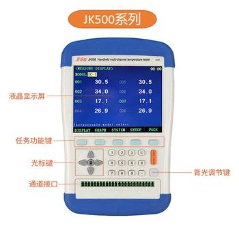 金科JK808高精度手持式多路溫度測試儀多通道曲線數據采集