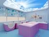 婴儿洗护游泳池浴缸单面玻璃圆弧形设计