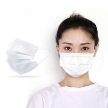 白色一次性防护口罩青岛威立口罩厂家货源充足资质图片