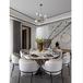 輕奢餐桌椅套裝小戶型后現代創意不銹鋼餐桌輕奢圓桌可定制