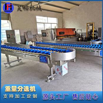 料盒式重量分选机自动称重分级机海产品在线重量分拣机