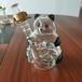 河間華企高硼硅玻璃工藝酒瓶熊貓造型醒酒器密封透明泡酒壇500ml