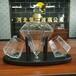 河間華企高硼硅玻璃酒瓶密封透明雙杯鉆石醒酒器1000ml