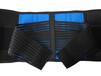廠家藍黑撞色時尚運動護腰透氣舒適