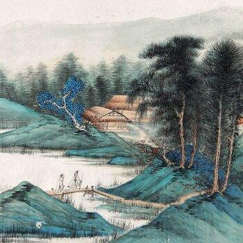 广西南宁书法字画,古玩私下拍卖,张大千字画,四美人图