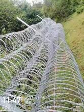 邊境防偷渡螺旋式刀刺網熱鍍鋅圍墻防爬防盜刺絲滾籠圖片