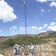 地面通訊電臺放雷戶外帳篷快裝式升降桿避雷針8米手搖升降支架圖片