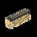德能3.0pogopin彈簧針H2.5雙排90度凹面不帯柱