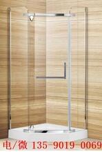 东莞简易淋浴房华丽雅卫浴旅馆钢化玻璃淋浴房全包框设计