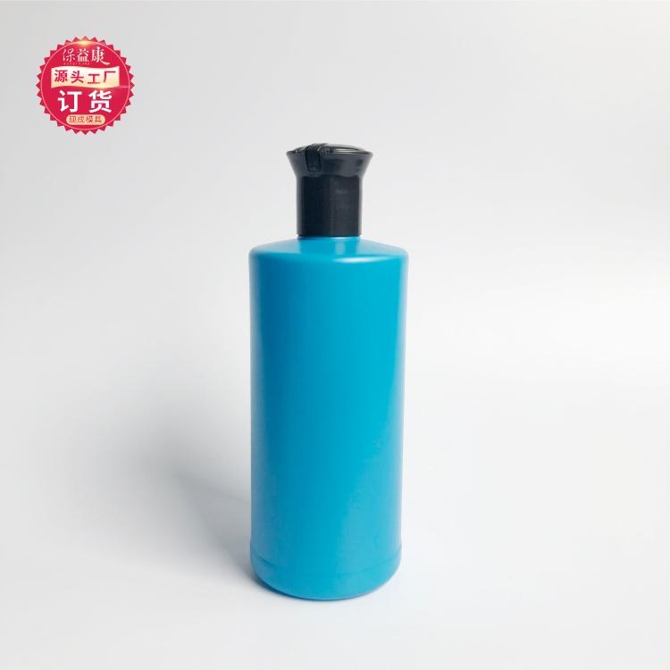成都500ml化工瓶生产厂家保益康蓝色乳液瓶洗发水塑料包装瓶
